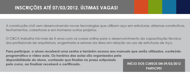 CURSOS ONLINE 2012 - Introdução à construção em aço