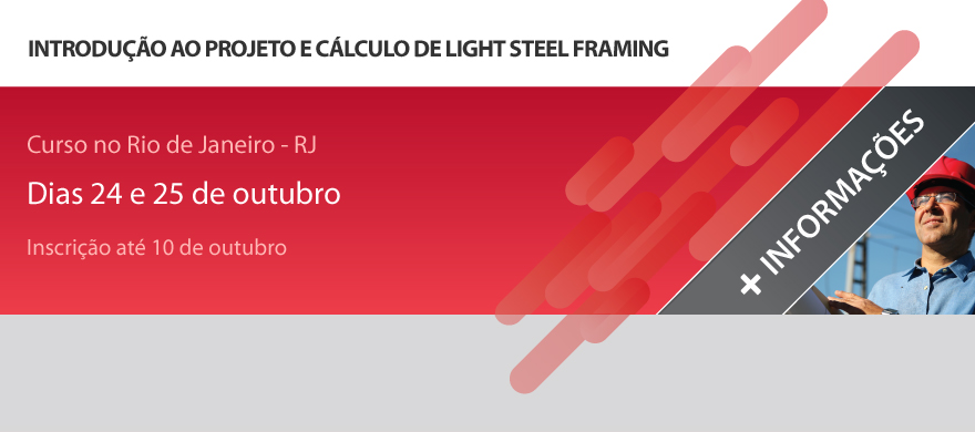 Curso presencial - Introdu��o ao projeto e c�lculo de light steel framing