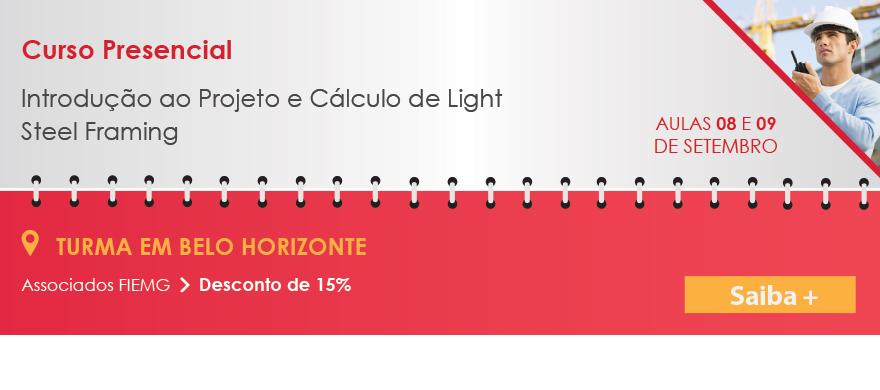 Curso Presencial Introdu��o ao Projeto e C�lculo de Light Steel Framing em Belo Horizonte