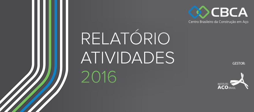 Relatório de Atividades de 2016