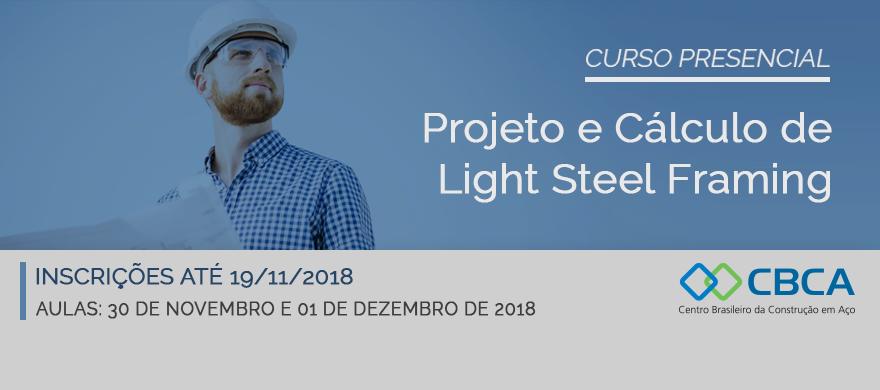 Curso Presencial - Projeto e Cálculo de Light Steel Framing
