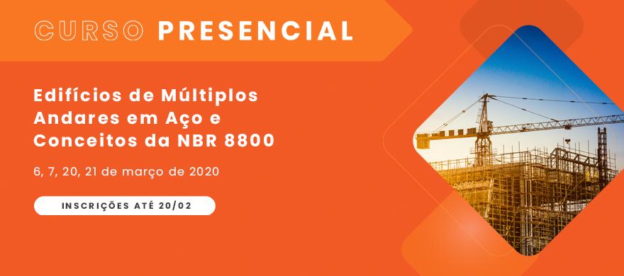 Curso presencial - Edifícios de Múltiplos Andares em Aço - NBR 8800