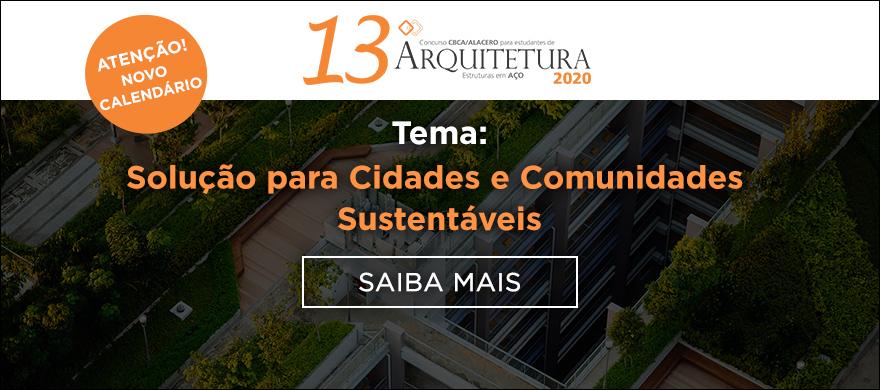 Novas datas - 13º Concurso CBCA para Estudantes de Arquitetura