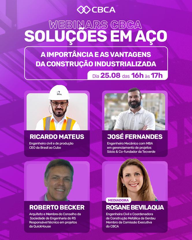 Webinar CBCA: A importância e as vantagens da construção industrializada